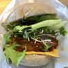 サンサーラ - 料理写真:牡蠣グラタンコロッケバーガー(アップ)♪