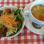 SYNC - セットのスープ、サラダ