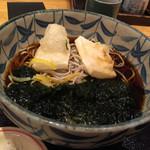 稲田屋 - ・生海苔と揚げもちの蕎麦