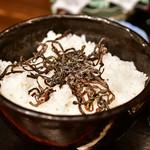 鉢屋 - 【マグロのレアカツと丸ごとトマトの冷やしおでん 定食@税込900円】白米