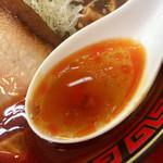 111466965 - スープは麻婆豆腐の辣油がたっぷり