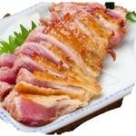地鶏もも肉のタタキ