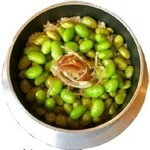 枝豆と茗荷の釜飯