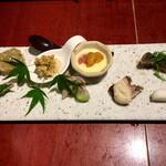 魚鶏料理 仲乃路 - 前菜8種盛り