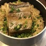焼き太刀魚の釜飯