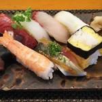 玄海鮨 - いわゆる  並 にぎりです  ちょいアップ