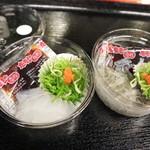 珍味堂 - 料理写真:のれそれとドロメです☆ 2019-0710訪問