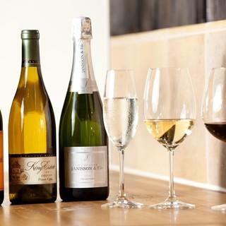 ワインはグラス提供10種類。地域No.1◎