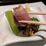 ステーキ&しゃぶしゃぶ ふじた - [料理] 京野菜の鴨肉巻き アップ♪w
