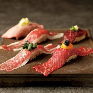 今まで食べた肉寿司と比べてください!極上肉寿司は贅沢の極み。