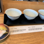 利き酒処 336 - 利き酒セット(あげ麩付き)50ml×3♡¥1000(税込)