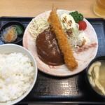 たわら屋 - まんぷく?ハンバーグ定食 740円
