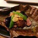 懐石 宿 扇屋 - 台の物 黒毛和牛の朴葉焼き