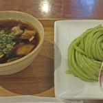 リバーサイドカフェ - なすと豚バラのトマト出汁つけ麺