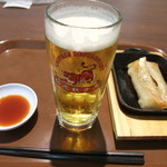 紅虎餃子房 - ビールセット(500円)