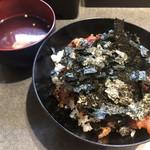 まぐろ料理紀文 - 鉄火丼(並)800円