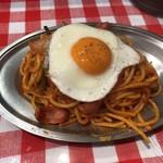 スパゲッティーのパンチョ - ナポリタン並 目玉焼き調味料