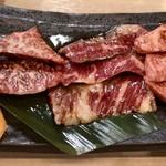 肉いち枚 - 焼肉定食1200円税込 ライス、スープ、小林つき。