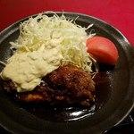 個室和食居酒屋 みやび  - 上空から 地鶏照り焼き 高菜タルタル添え