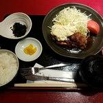 個室和食居酒屋 みやび  - 地鶏照り焼き 高菜タルタル添え全景