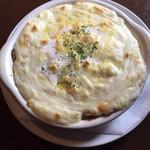 ピザ ハウス モッコ - スパゲティグラタン (シーフード) 〜モチモチ太麺と自家製ベシャメルソースで〜