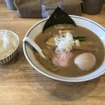 麺や たけ田 - 料理写真:特製濃厚中華そば 950円 ライス 100円