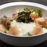 博多あじ処 はす屋 - 豆腐と生ハムのゴマとろろサラダ