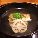 味享 - 長良川産鮎と枝豆豆腐のお椀