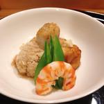 味享 - 石川芋と車海老焚き合わせ