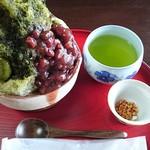 かぶせ茶カフェ - かぶせ茶氷@700