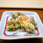 木山 - ☆海老、枝豆の天ぷら