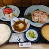 乃んき食堂 - 料理写真:ローズ焼きとお刺身定食
