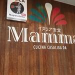 イタリア食堂 Mamma - 入口の壁