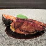 馳走2924 - 仏産鴨のフォアグラに安穏芋のピュレ、欧州の黒無花果
