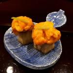 111549989 - 茄子の田楽 雲丹✨✨これ美味しい(* >ω<)