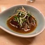羽田市場 ギンザセブン - カツオのわらやき オリジナルソース