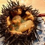 羽田市場 ギンザセブン - 雲丹と甘海老、帆立の味噌漬け