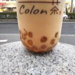 Colon茶 - Colon茶タピオカミルクティー(M) 450円、タピオカ増量 +50円