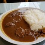 Loup de mer - Aセット国産黒毛和牛カレー、スープ付き(1200円)