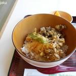 弥彦山ロープウェイ展望食堂 - 舞茸の天ぷら入り丼