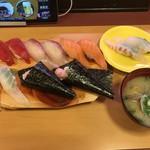 寿司じじや - 料理写真:じじランチ盛り=980円 税別 活鯛2貫=180円 税別