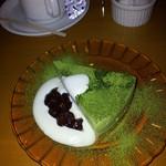 11157367 - 抹茶レアチーズケーキ¥600コーヒー¥450セットで▲150かな