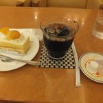 ケーキの西銀 - シースケーキ330円 アイスコーヒー200円(朝・夕以降のみ)