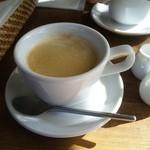 ブランズウィック - ランチにつくホットコーヒー。