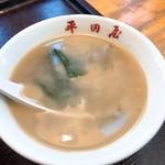 そば食堂 平田屋 - 謎の味のスープ