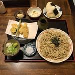 さくら屋 - 料理写真:剣先イカと野菜の天ざる定食  ¥1300