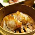 中華菜 高福 - 海鮮蒸餃子(蟹・海老入り蒸し餃子)。