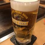 京都きん家 - 鉄板焼きには生ビール♪