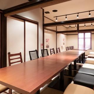 【大小13のテーブル個室充実】
