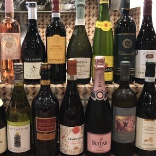 500円から楽しめる*約40種類*のグラスワイン‼︎